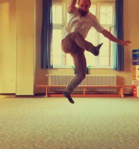 Bewegung in der Osteopathie - Jonny Reichel beim Training